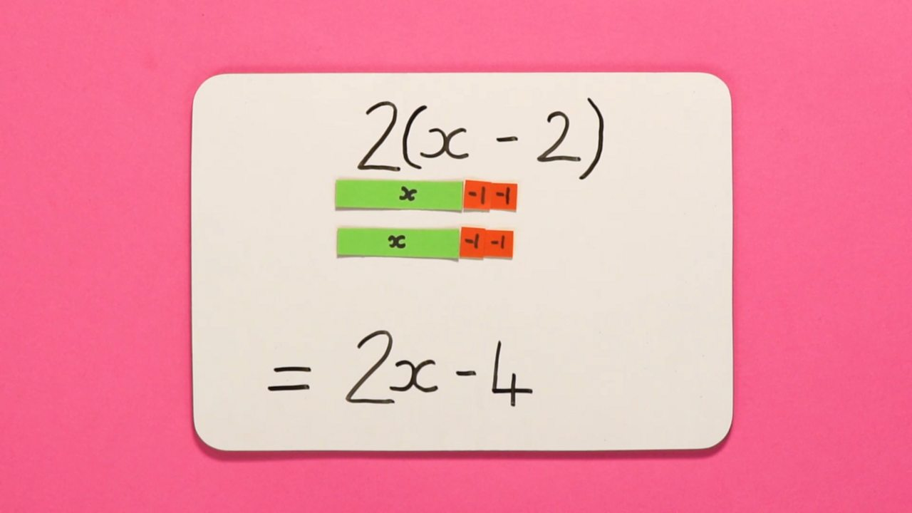 A picture showing the equation 2x – 4.