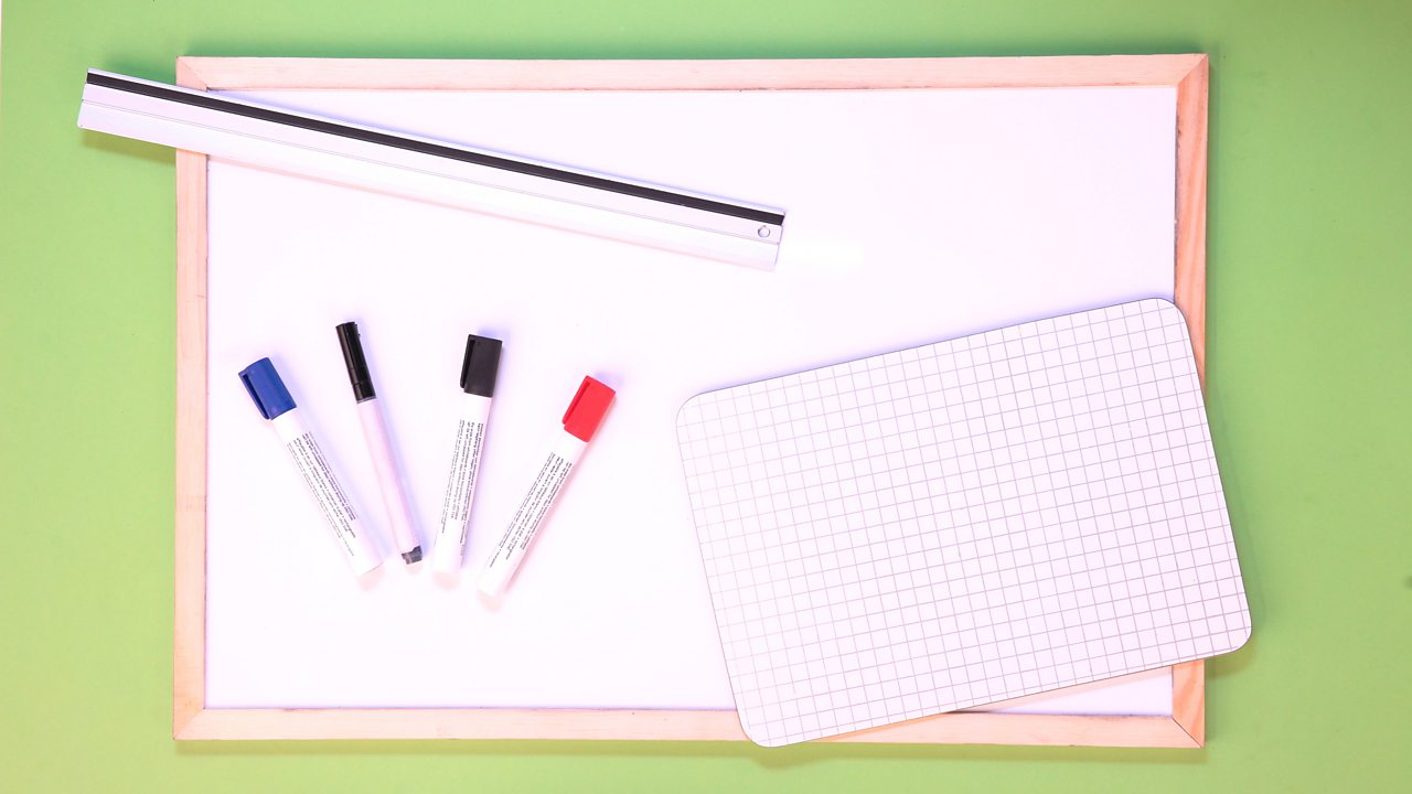 YOU WILL NEED: A ruler, graph paper or a whiteboard, some pens.