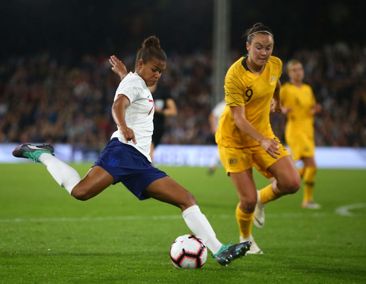 Nikita Parris playing for England