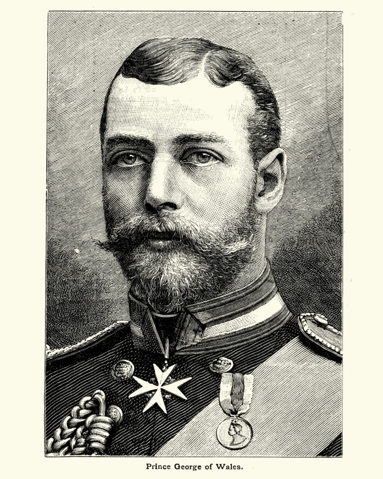 An illustration of King George V before he took to the throne