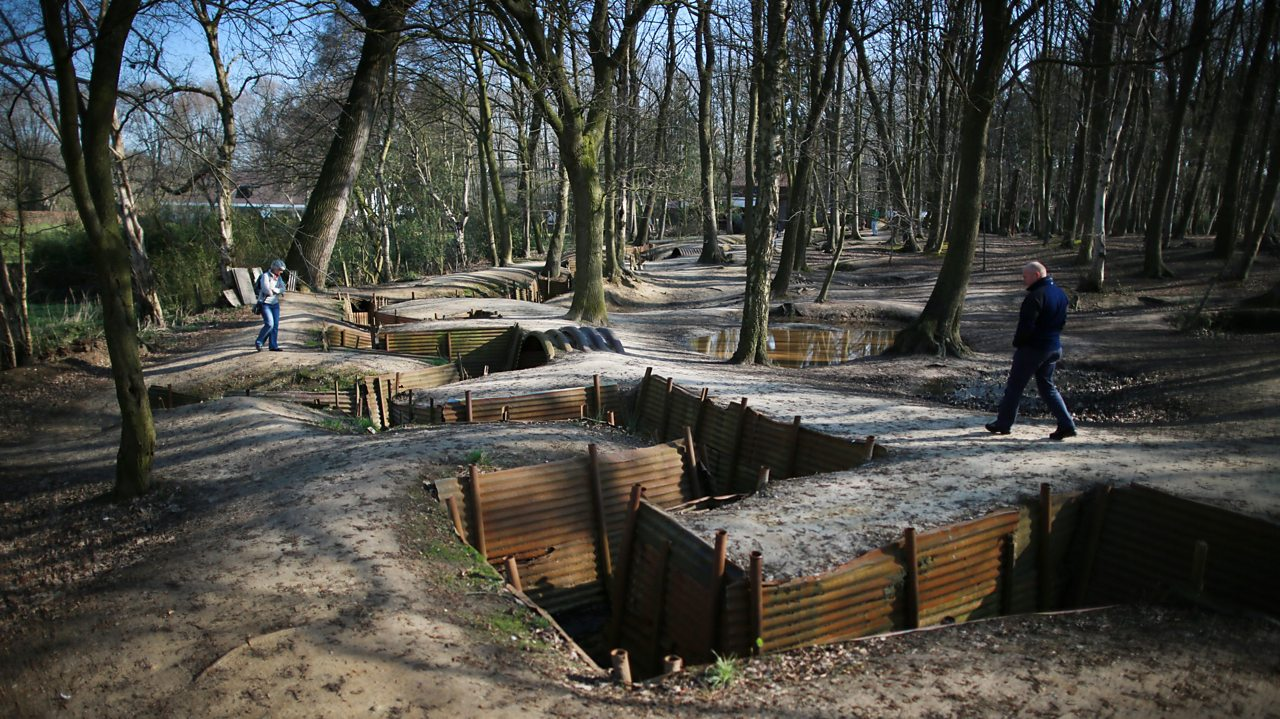 Preserved WW1 trenches at Sanctuary Wood (Hill 62) Museum