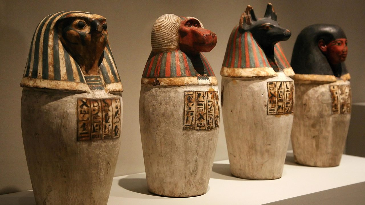 canopic jars used in the mummification process