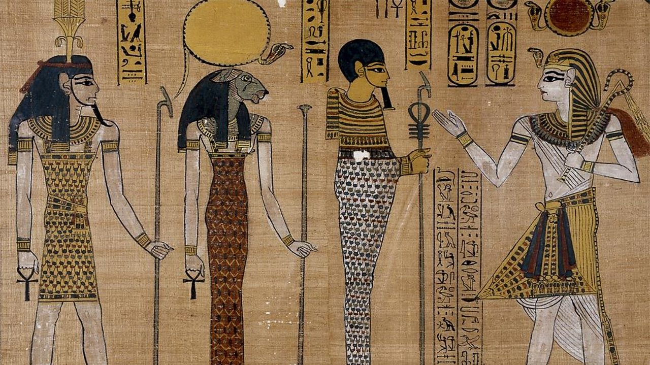 A photograph of a section of The Great Harris Papyrus