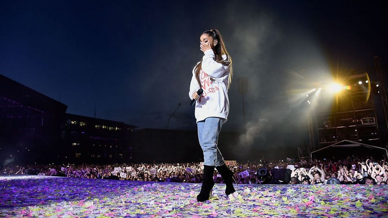 Ariana Grande at the One Love Manchester concert