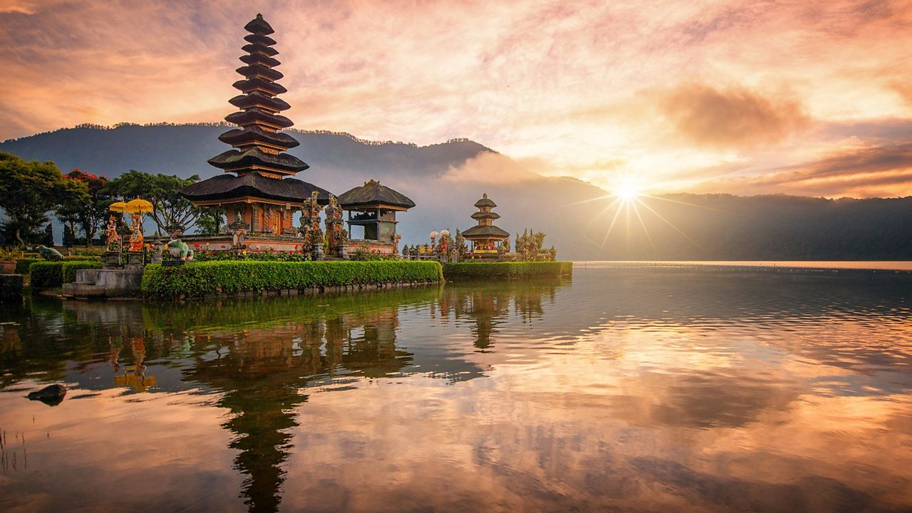 Hindu temple in Bali, Indonesia. Although most Hindus live in India, there are some Hindu areas in other parts of the world, like Indonesia and Nepal. Many Hindus also live in the UK.