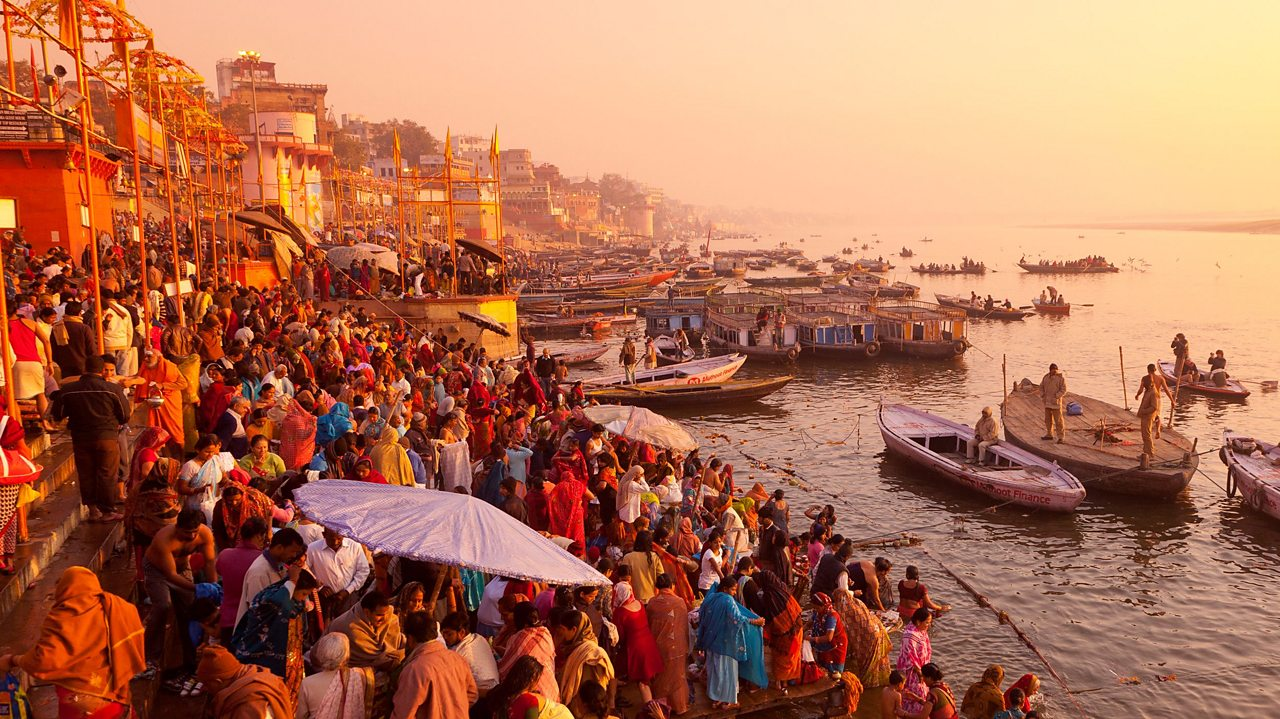 Varanasi, located on the river Ganges, is considered by Hindus to be the holiest city. Many Hindus pilgrimage here to die, believing it will release the soul from the cycle of reincarnation.