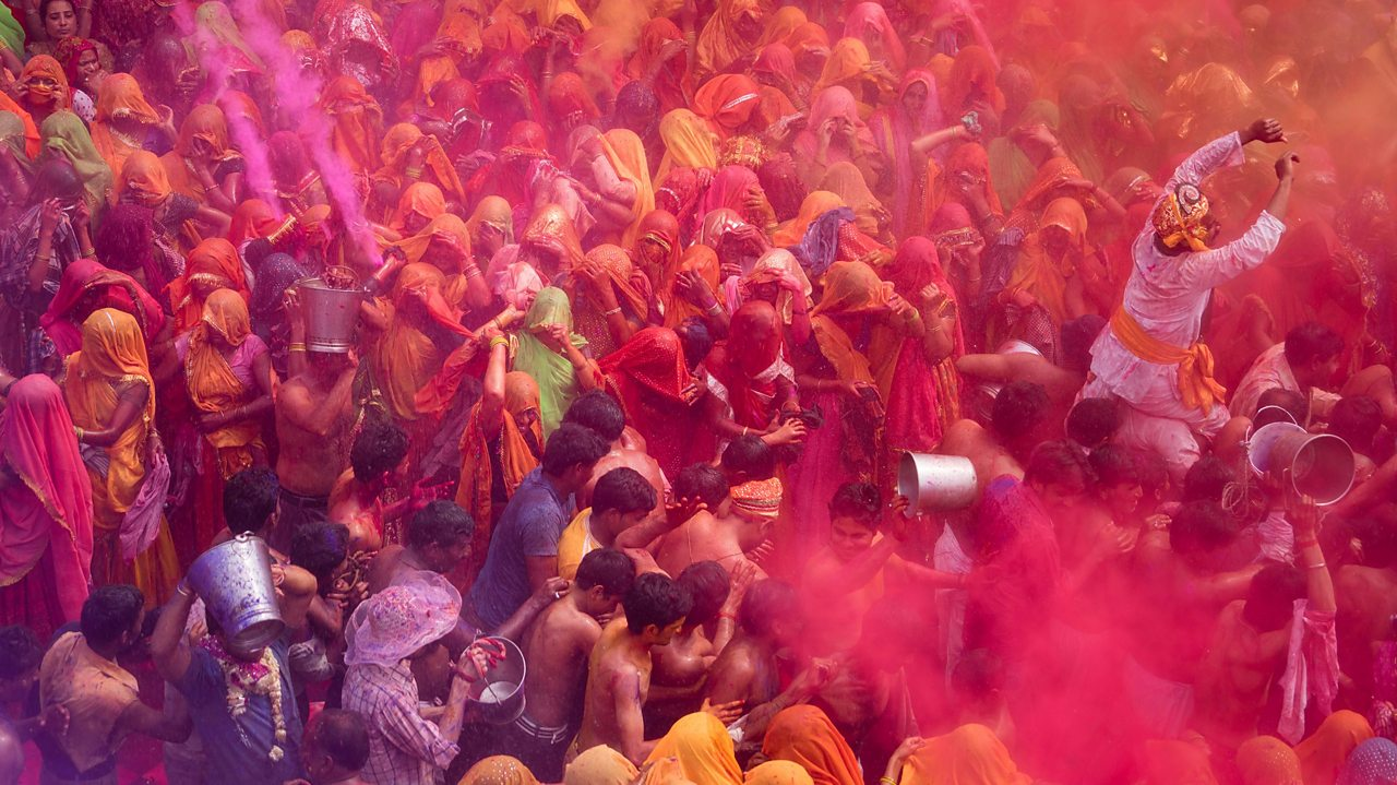 Holi celebrations in Northern India.