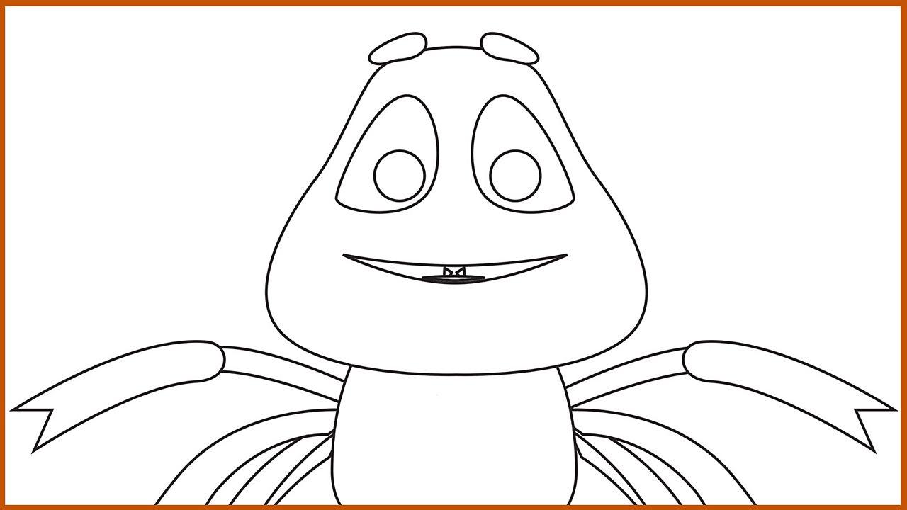Resource Sheet 14: Outline drawing of Anansi