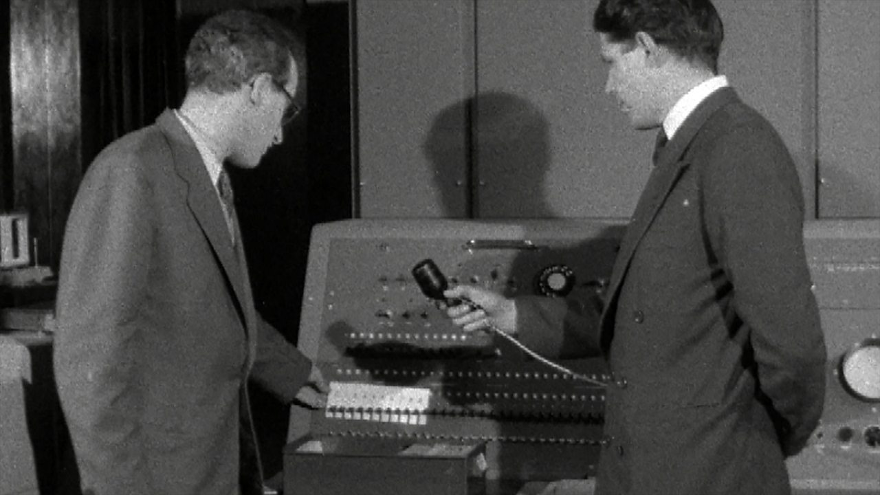 Electronic computer demonstration, 1958