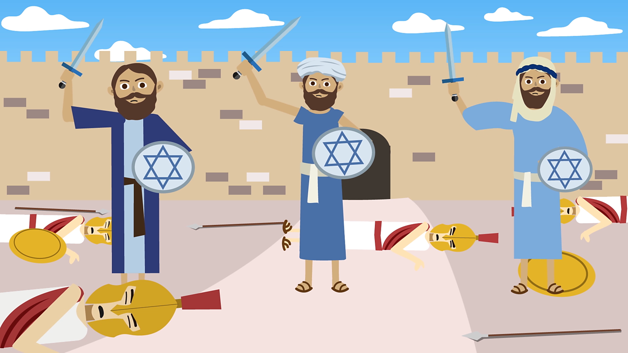 After three years, they won the war and recaptured Jerusalem from the Syrians