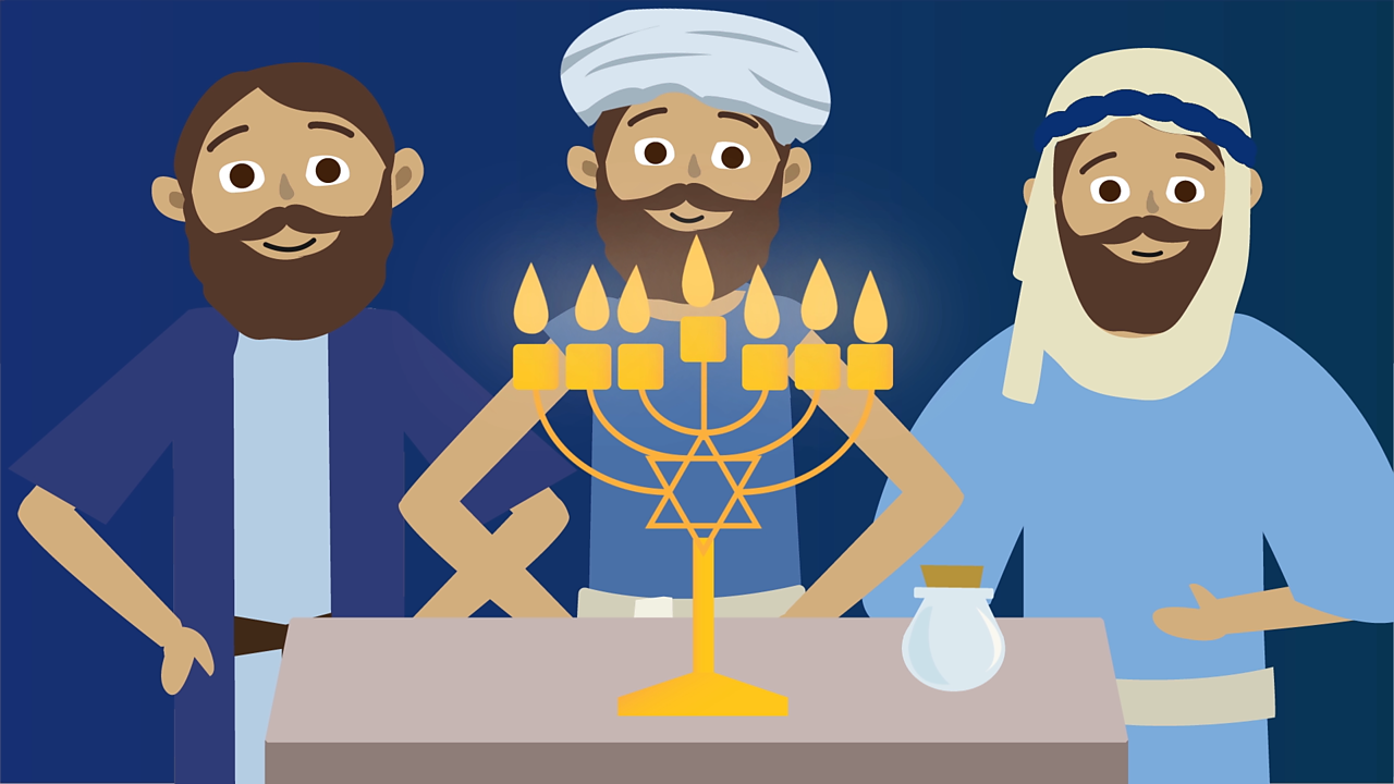 However, miraculously the lamp stayed alight for eight days! That is why Jews light a candle every day of Hanukkah.