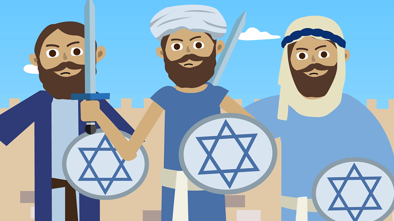 A small group of Jews called the Maccabees fought back against the kings army.