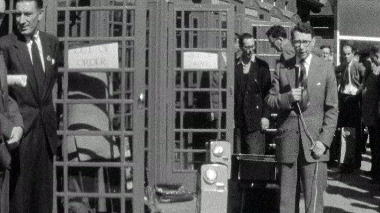 Trunk call phone boxes, 1959
