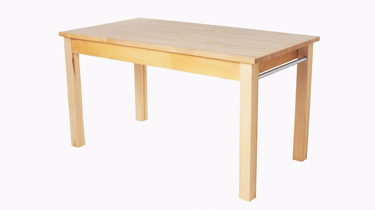 A simple wooden table