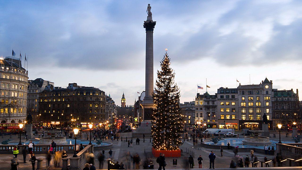 Christmas tree in Trafalgar Square