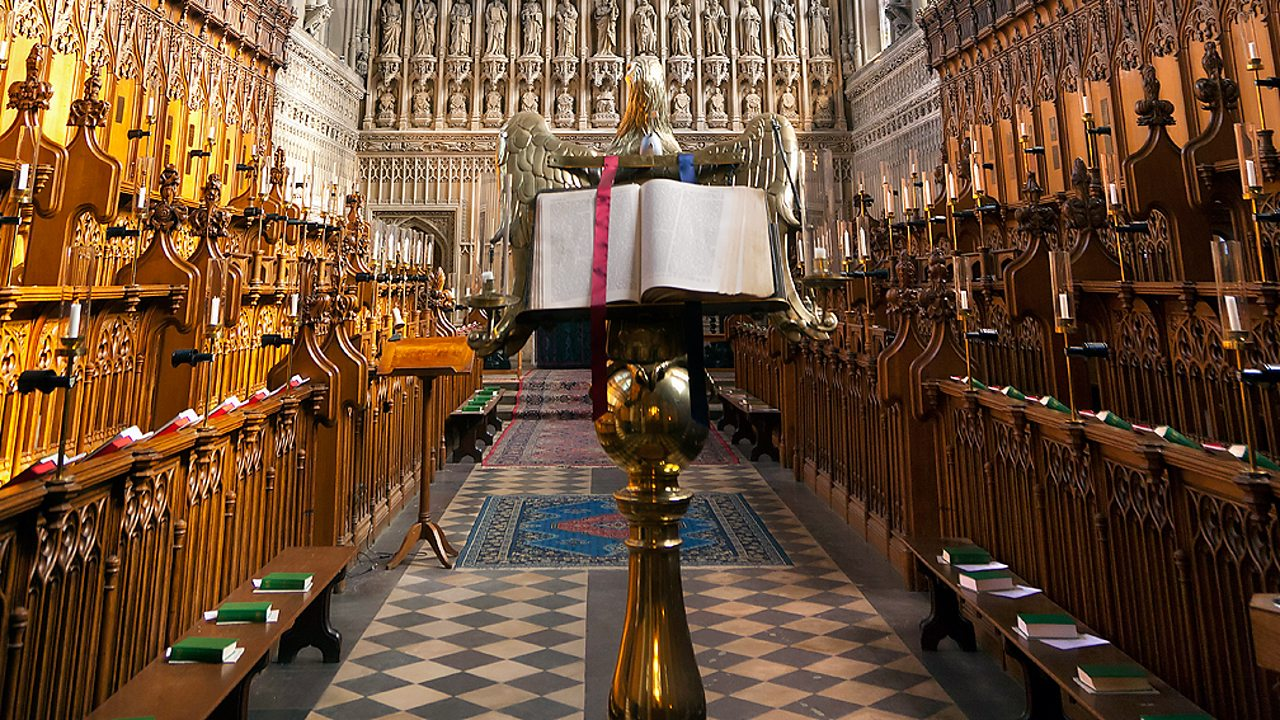 A bible on a lectern