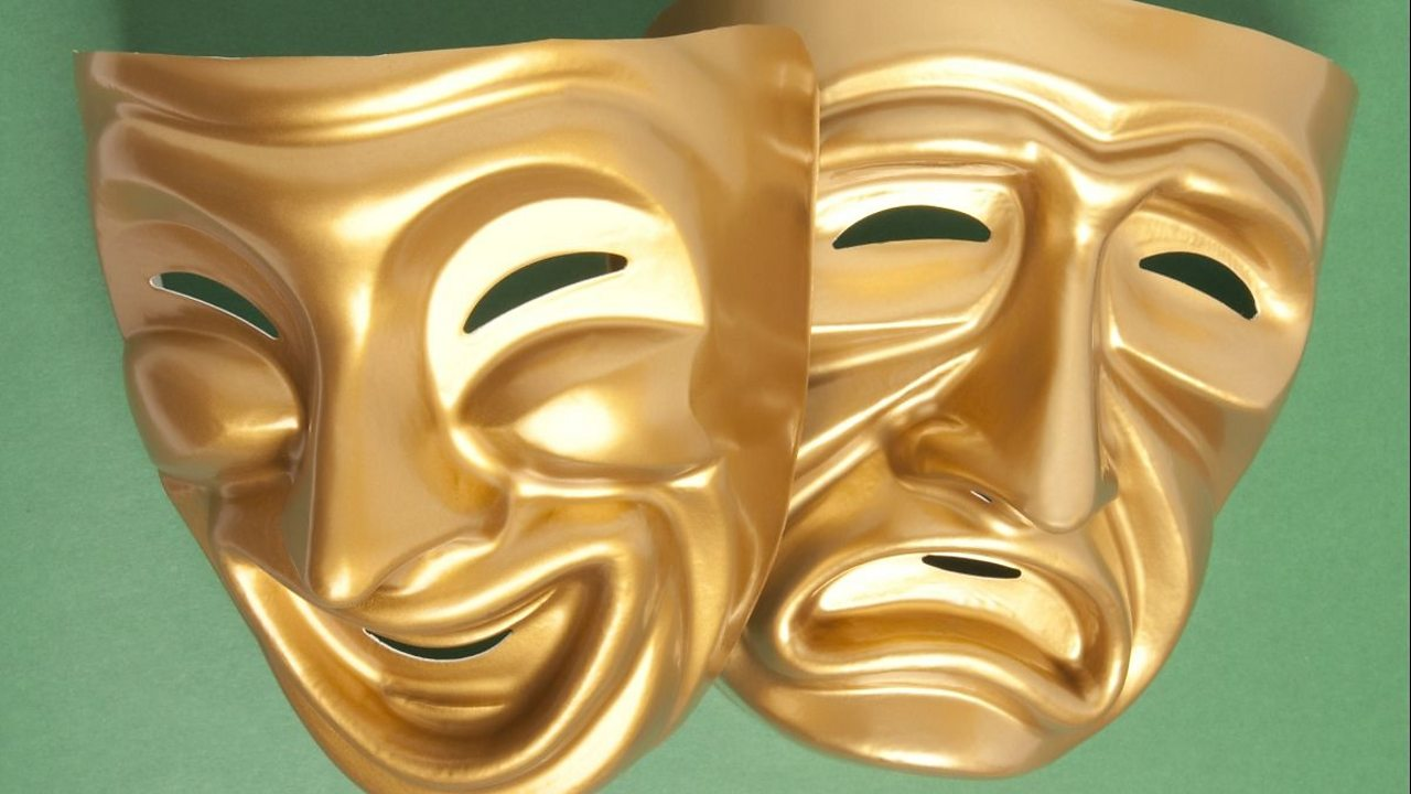 Tragicomic theatre masks