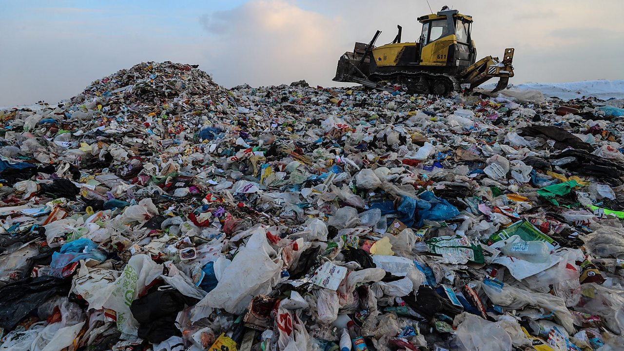 Landfill site: waste disposal is a big problem around the world.