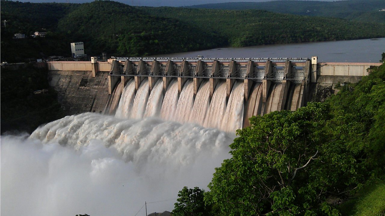Hydroelectric dams generate electricity by passing huge amounts of water through turbines.