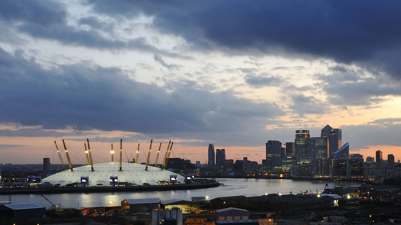 The millennium dome or O2 arena in London