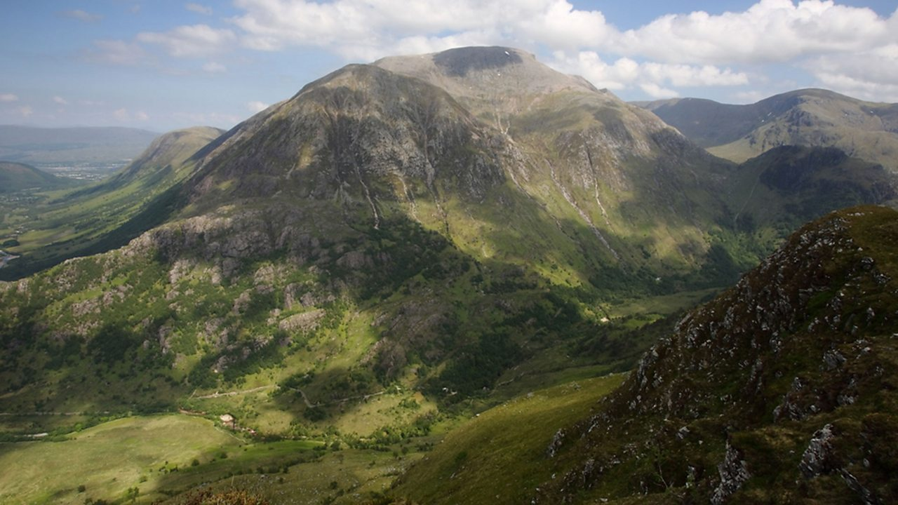 Ben Nevis is the highest mountain in Scotland and the UK.