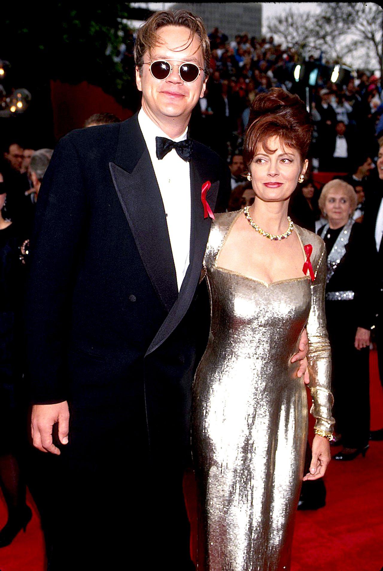 Susan Sarandon and Tim Robbins at the 1993 Oscars