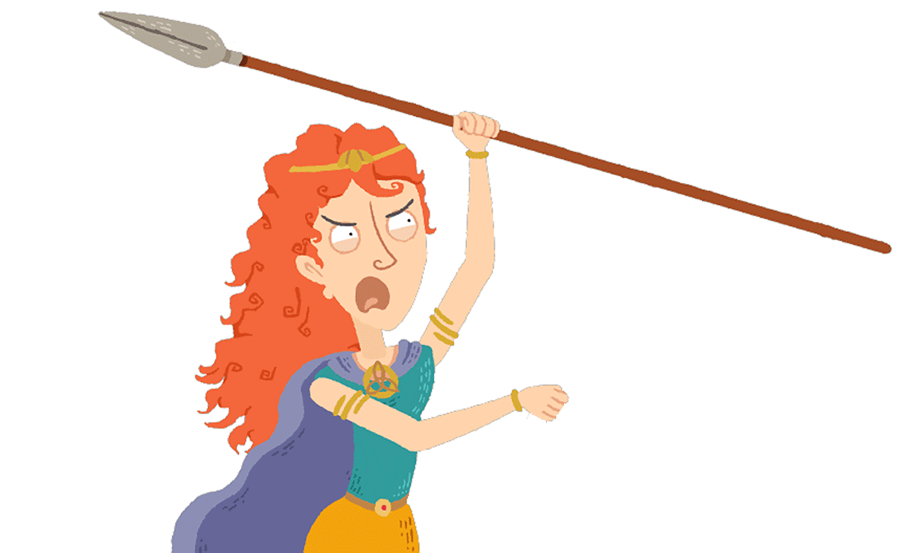 Boudicca with a spear