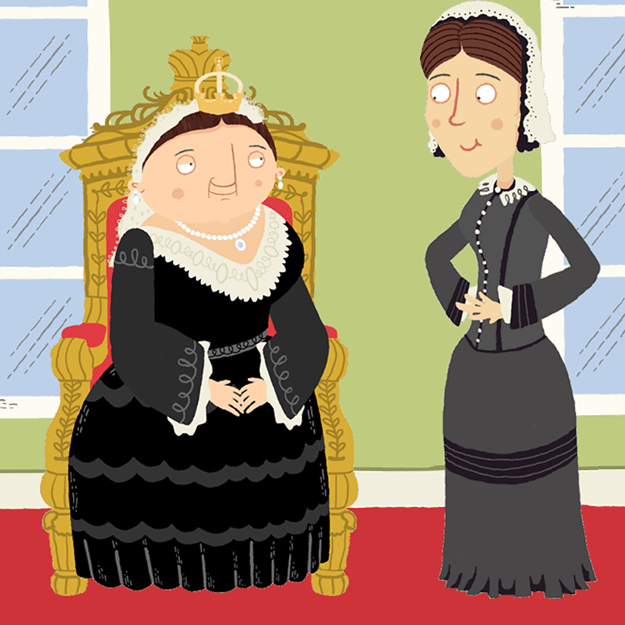 Florence Nightingale with Queen Victoria.