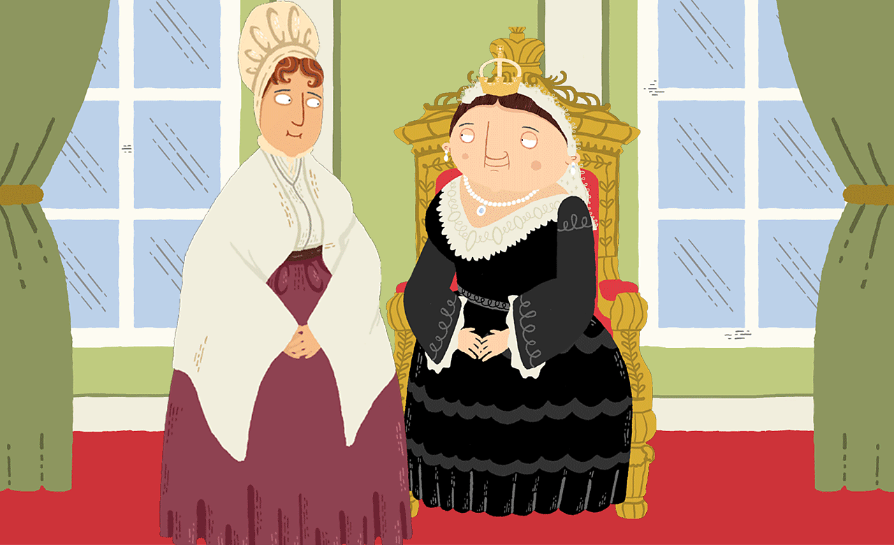 Elizabeth Fry with Queen Victoria.