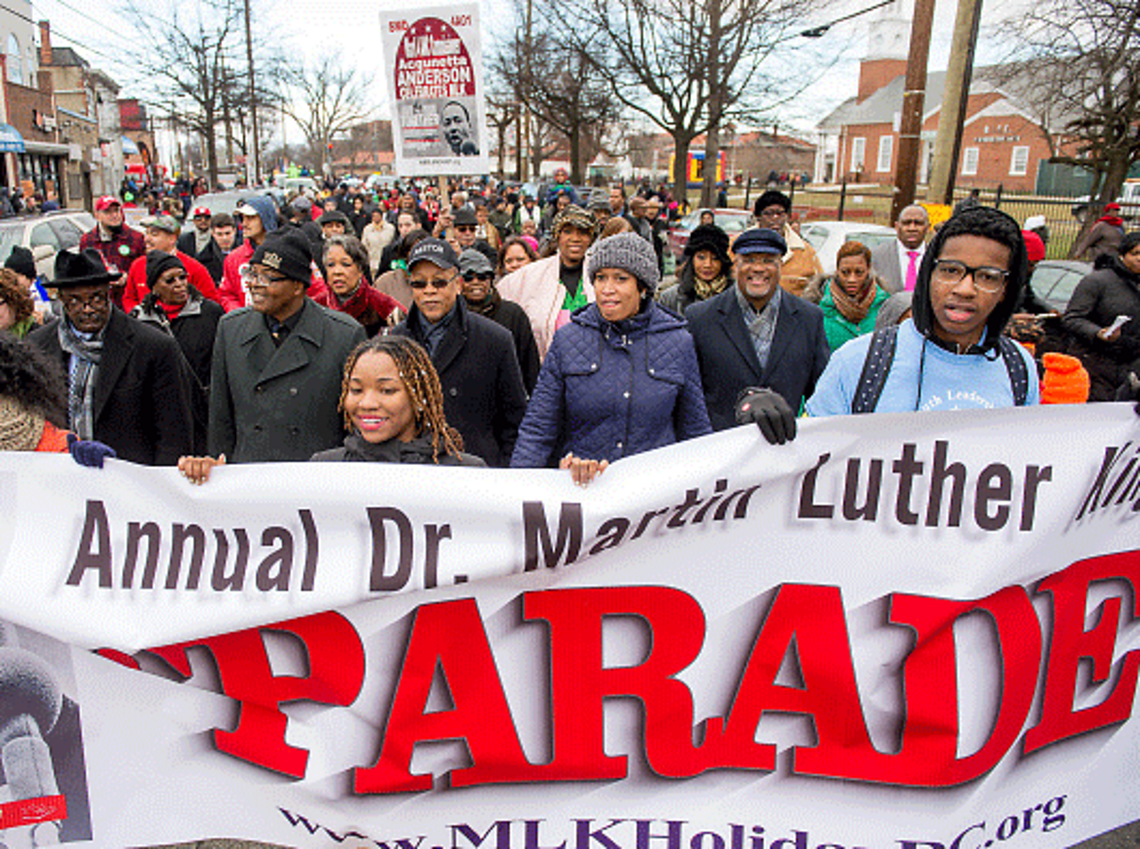 Martin Luther King day parade.