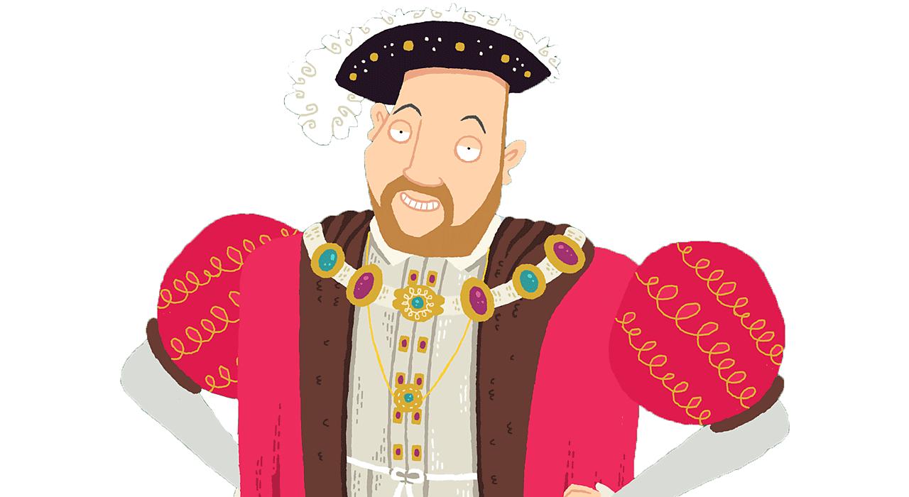 Henry VIII smiling.
