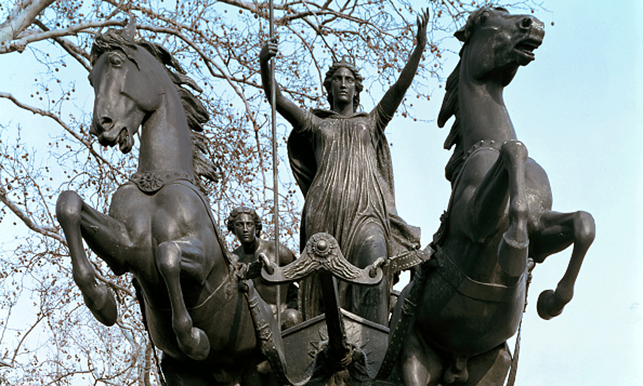 Statue of Boudicca in London
