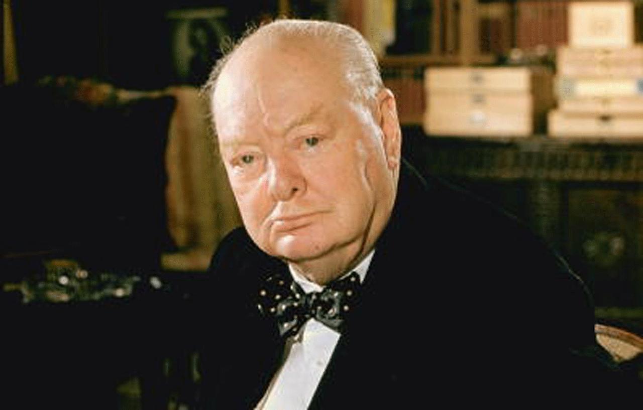 Photograph of Winston Churchill.