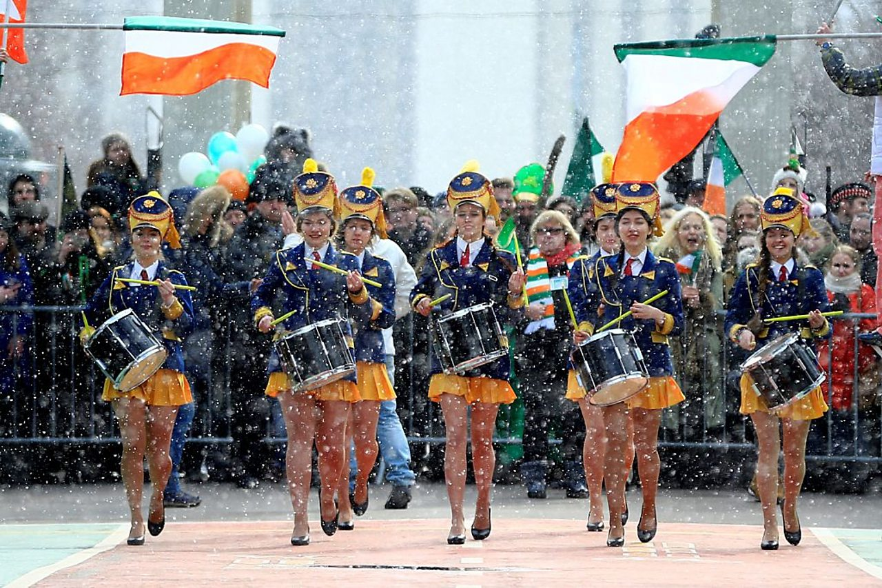 St Patrick's Day celebrations in Moscow, Russia