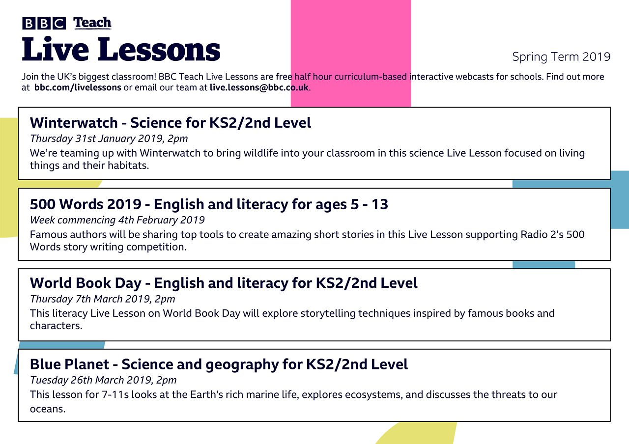 Download our new Live Lessons planner
