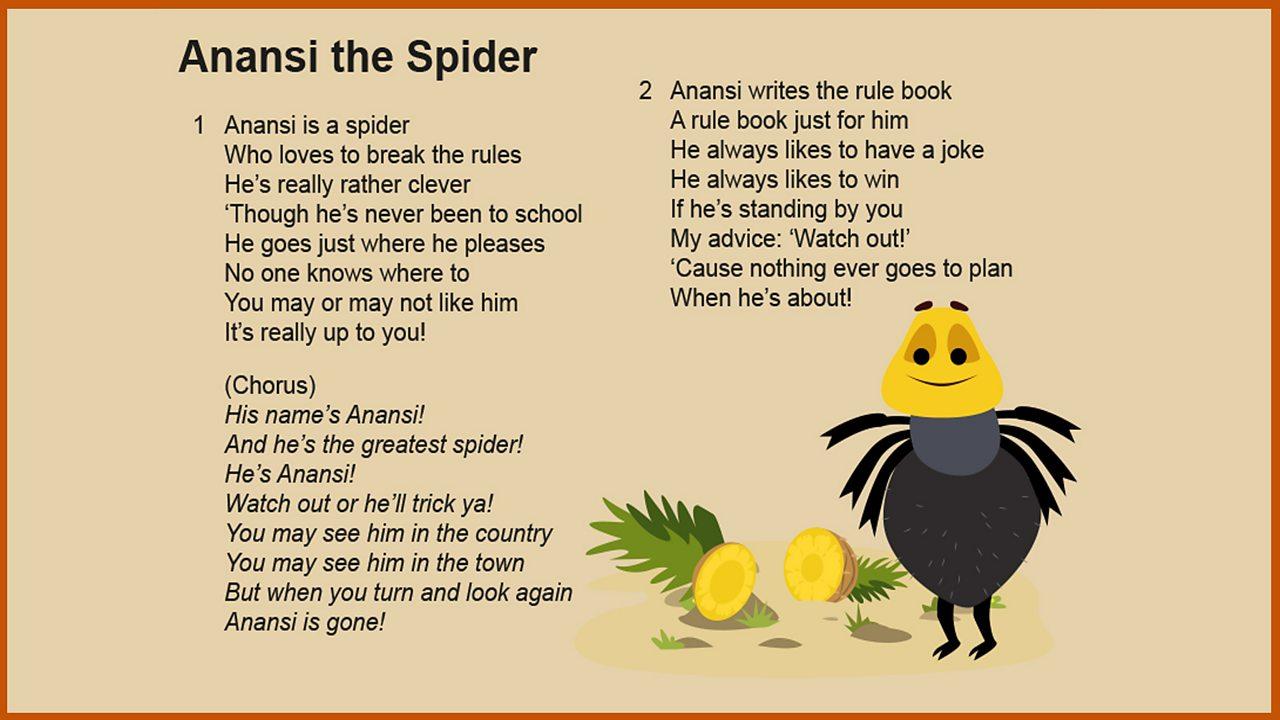 Lyrics: 'Anansi the Spider'
