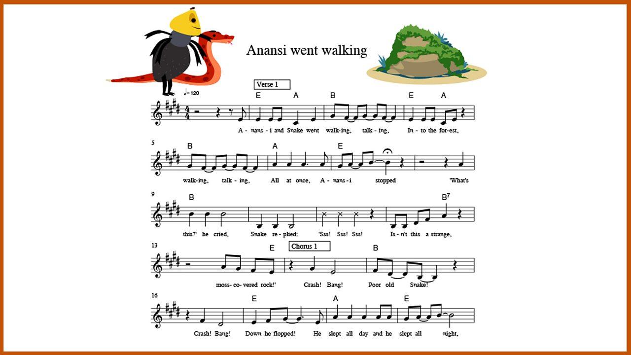 Music: 'Anansi went walking'