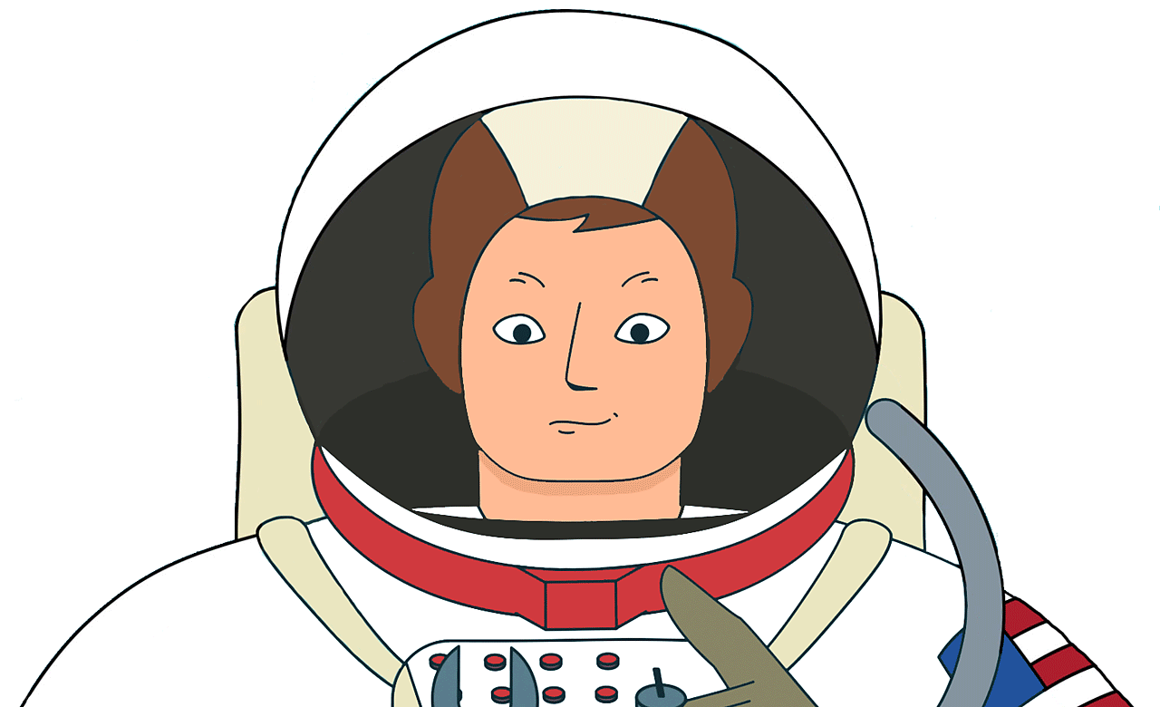 Neil Armstrong in his space suit