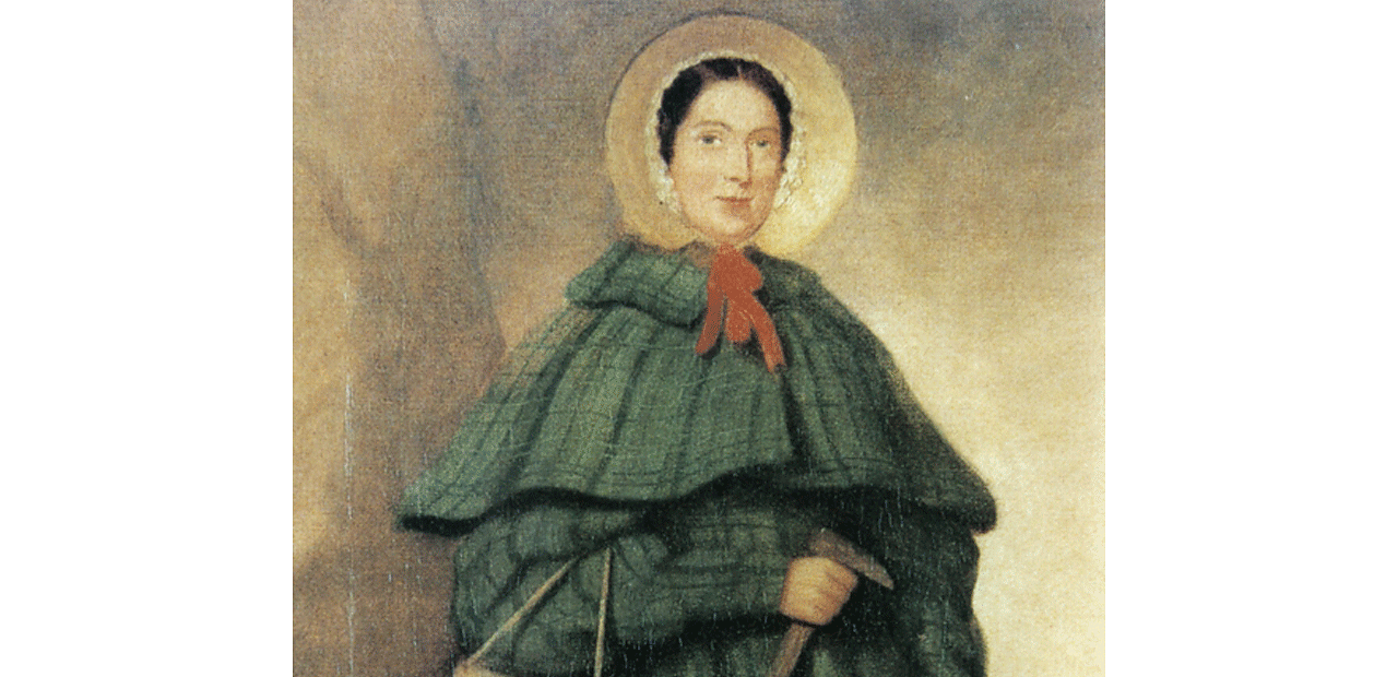 Painting of Mary Anning.