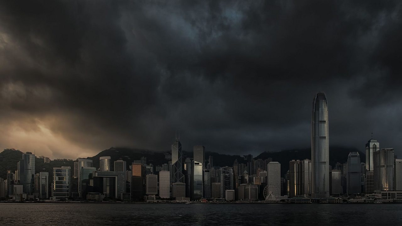 Typhoon Hato brought Hong Kong to near darkness in 2017.