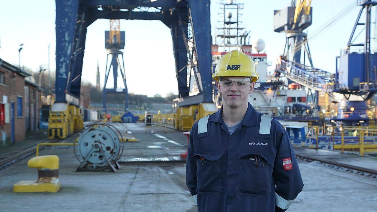 Ryan at the shipyard