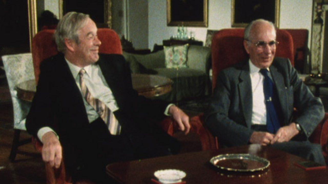 Sir Alan Hodgkin and Sir Andrew Huxley
