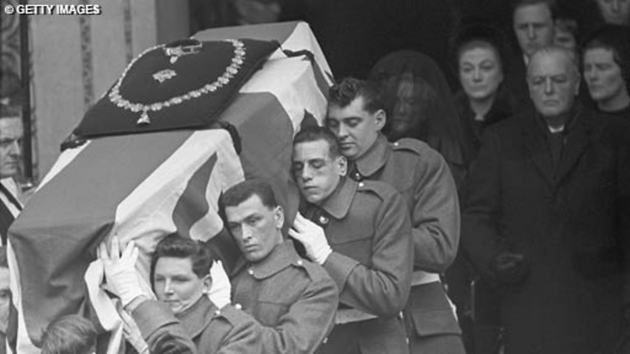 The State Funeral Of Churchill - Part 3