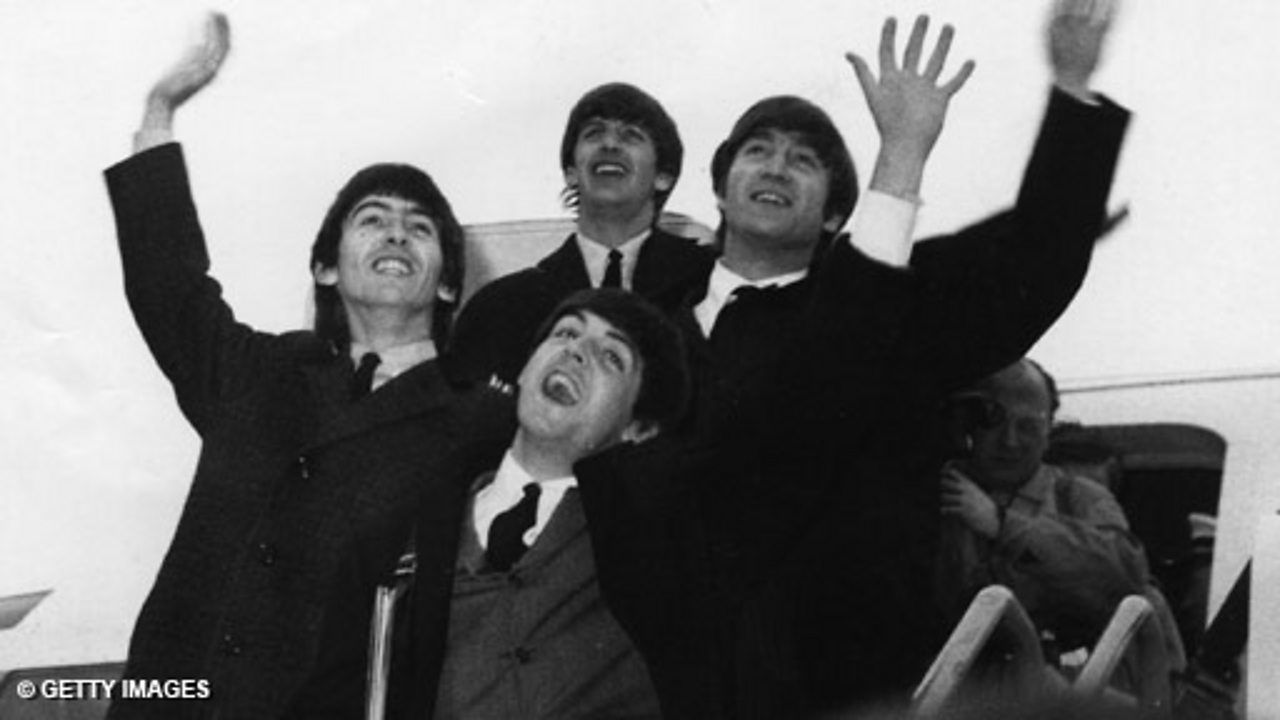 The Beatles at London Airport, 1964