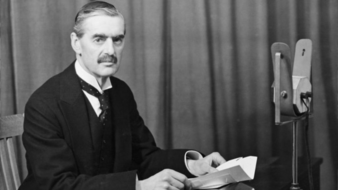 Chamberlain peace negotiations address