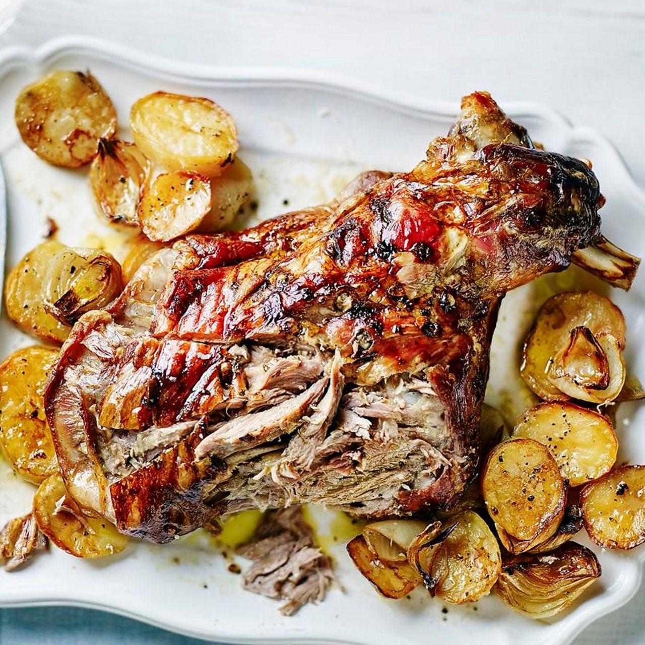 Slow roast lamb shoulder