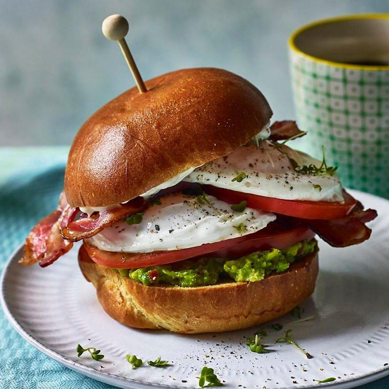 An outstanding egg sandwich