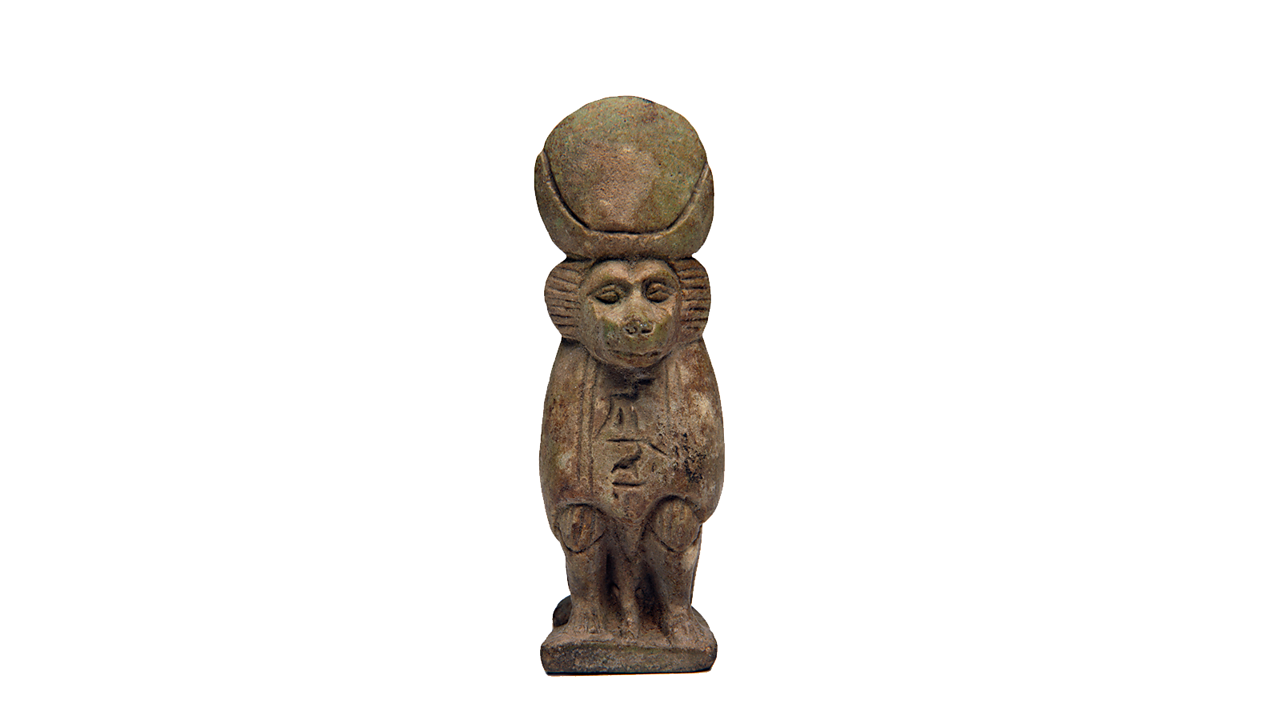 Thoth was often depicted with the head of a baboon or an ibis