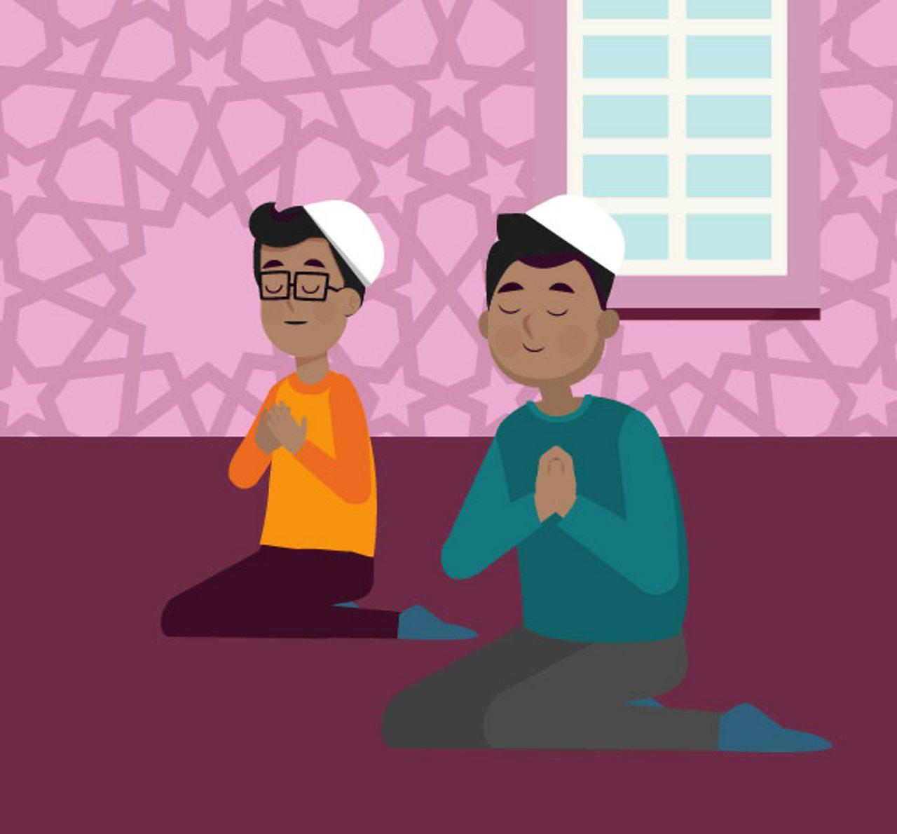 Boys praying