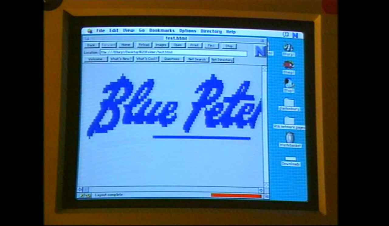 Blue Peter discovers the internet, 1995